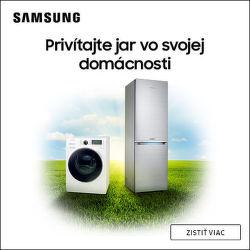 Cashback až do 235 € na veľkú bielu techniku Samsung