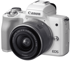 Canon EOS M50 biela + EF-M15-45IS STM