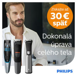 Cashback až do 30 € na strihače a zastrihávače Philips