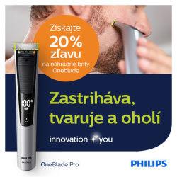 20% zľava na náhradné brity Philips OneBlade