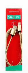 Omega Lightning - USB kábel 1,8A 1m, zlatá