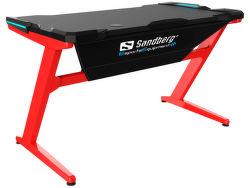 Sandberg Fighter Gaming Desk čierno-červený