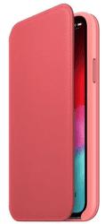 Apple kožené puzdro Folio pre iPhone Apple XS, pivonkovo ružová