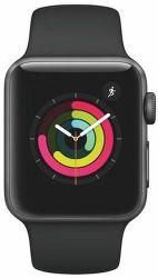 Apple Watch Series 3 38mm (vesmírne sivý hliník/čierny športový remienok)