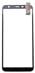 Qsklo Full Cover 2D ochranné sklo pre Samsung Galaxy J4+, čierna