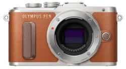 Olympus PEN E-PL8 hnedo-strieborný + 14-42 EZ