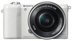 Sony Alpha 5100 biely + 16–50 mm F3,5–5,6 OSS