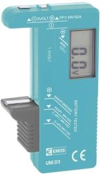 Emos UNI D3 (N0322) univerzálny tester batérií