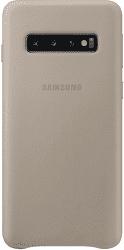 Samsung Leather Cover pre Samsung Galaxy S10, sivá