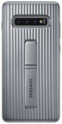 Samsung Protective Standing Cover pre Samsung Galaxy S10+, strieborná