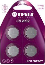 TESLA CR2032 4ks, litiová batéria
