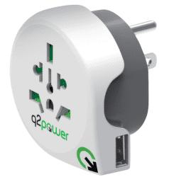Q2 Power World - USA + USB, cest. adaptér