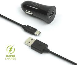 Fixed USB 2,4 A čierna 1 m USB-C kábel