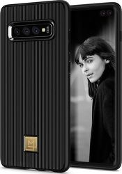 Spigen La Manon Classy puzdro pre Samsung Galaxy S10+, čierna