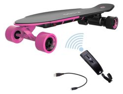 YUNEEC E-GO2,  E-Longboard, ružový
