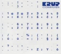 PremiumCord PKCZB prelepky na klávesnicu s CZ layoutom