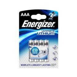 Energizer Ultimate Lithium AAA FR03, 4ks