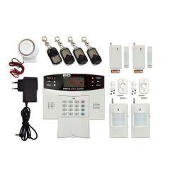 ECOPLANET Bezdrôt. GSM alarm s LCD displ., 4x diaľk. ovl., 2x PIR, 2x DOOR, 1x siréna