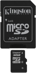 KINGSTON 32GB MIKRO SDHC Card Class 4