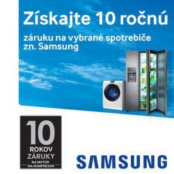 10-ročná záruka na vybrané produkty Samsung