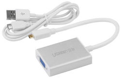 UGREEN 40222 Konvertor z micro HDMI na VGA+3.5MM Audio+Mirco USB