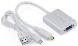 UGREEN 40217 Konvertor z mini HDMI na VGA+3.5MM Audio+Mirco USB