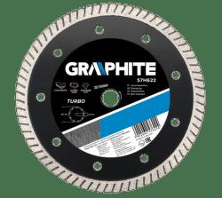 GRAPHITE Diamantový kotúč, 125 22.2 mm, Turbo, super tenký