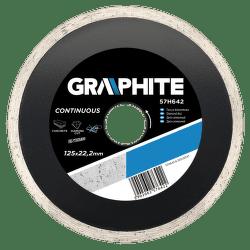 GRAPHITE Diamantový kotúč, 125 22.2 mm, kontinuálne RIM