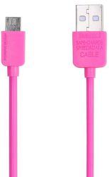 Remax AA-1107 dátový kábel Micro USB 1 m ružový