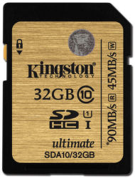 KINGSTON 32GB SDHC UHS-I ULTIMATE CLASS 10