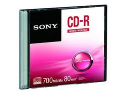 Sony CRM80SS - CD-R 700MB 48x, slimbox, 1 ks