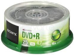 Sony DVD+R 4,7GB 16x, 25ks