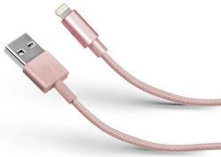 SBS dátový kábel Lightning 1 m ružový