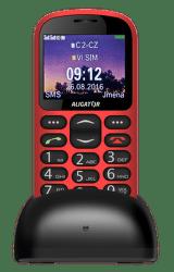 Aligator A880 + nabíjací stojanček, A880RD červený