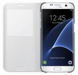 SAMSUNG Flipové puzdro S View pre Galaxy S7 Edge (biela)