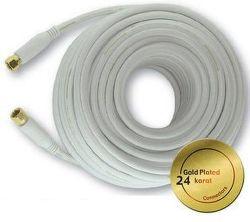 Mascom 7676-100W - koaxiálny kábel F-F konektory, OFC, 10 m