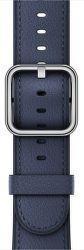 Apple Watch 38mm polnočno modrý klasický remienok