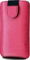 Fixed Soft Slim 6XL ružové puzdro so zatváraním