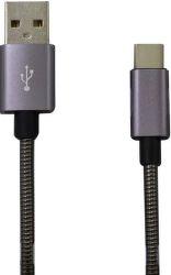 Mobilnet Micro USB kábel 2A 1m, sivá