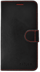 FIXED FIT knižkové puzdro Samsung Galaxy J7 2017, čierne