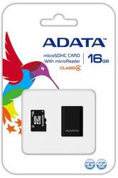 ADATA microSDHC 16 GB Class 4 + USB čtečka