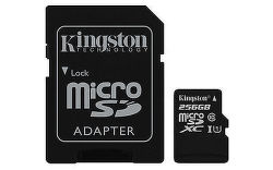 Kingston microSDXC 256GB UHS-1 Class 10