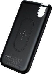 Baseus Thin USB/USB-C bezdrôtová powerbanka Qi 10000 mAh, čierna