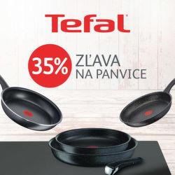 35% zľava na panvice a riad Tefal
