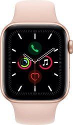 Apple Watch Series 5 44mm zlatý hliník s pieskovo ružovým športovým remienkom