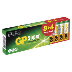 GP SUPER LR03 8+4PB AAA 12 ks