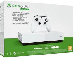 Microsoft Xbox One S 1TB All-Digital Edition + Minecraft + Sea of Thieves + Fortnite