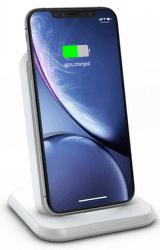 Zens Aluminium Fast Charge bezdrôtová nabíjačka Qi 10 W biela