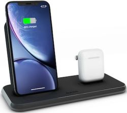 Zens Stand + Dock Aluminium Fast Charge bezdrôtová nabíjačka Qi 10 W čierna