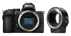Nikon Z50, čierna + FTZ adaptér
